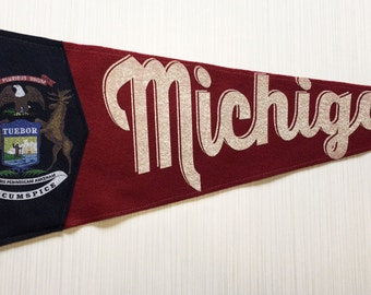 Michigan Pennant - Red