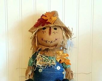 Theodore Scarecrow doll   Primitive Scarecrow   Fall   Thanksgiving   Country decor   Centerpiece   Ships Now