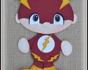 Flash Super Hero  Premade Scrapbooking Embellishment Paper Piecing