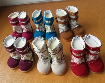 Suedine boots for little darlings Dianna Effner Geri or sweet doll shoes