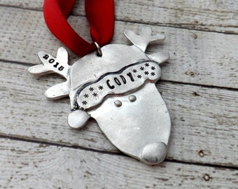 personalized Christmas ornament- deer ornament- personalized ornament-christmas ornament-reindeer ornament- family ornament- christmas