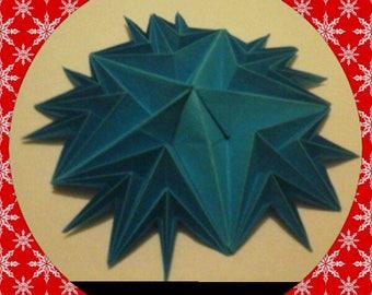Christmas set of 5 snowflake snow blue d origami