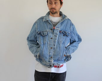 Levis Light Wash Denim Oversized Jacket Mens Medium