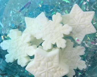 4 Snowflake Goats Milk Moisturizing Hand Soap Guest Soaps