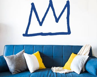 Basquiat Crown Decal Basquiat Decal Basquiat Art Basquiat Wall Art Jean Michel Basquiat Art Crown Wall Decal Crown Wall Sticker Vinyl Decal
