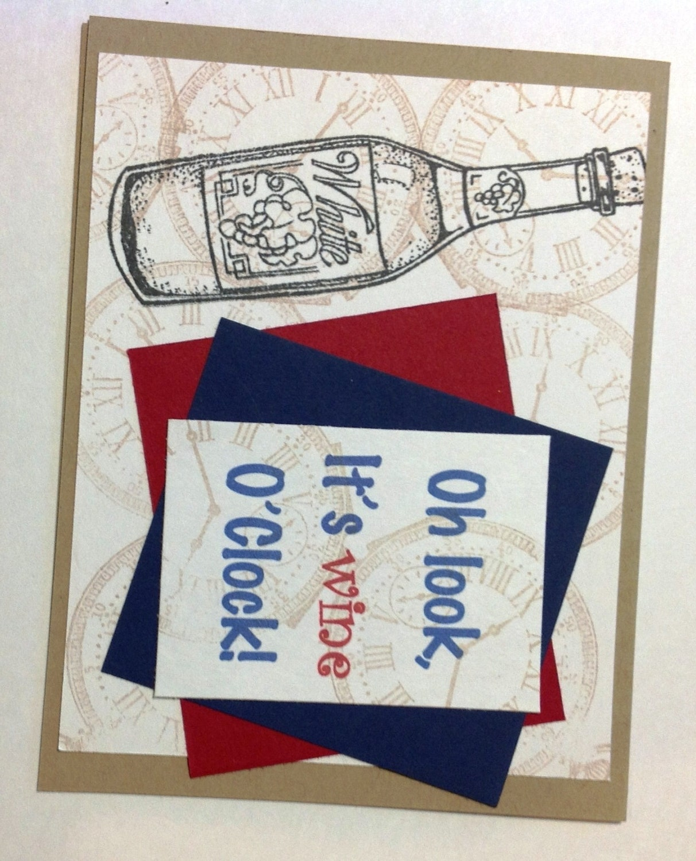 Happy Birthday Male Wine ~ Wine friends party drinks wine o clock hello fun card