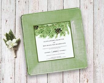 Holiday wedding shower gift - holiday gift for couple - wedding invitation keepsake - use wedding invitation for gift - 1st anniversary gift
