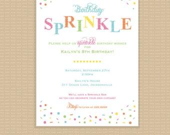 Sprinkles . Birthday . Invitation . Any colors