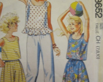 Pattern MC CALLS 3652 Top and short pants or long for children