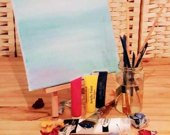 Painting Starter Set, Brushes, Easel, Canvas Board, Paint, Acrylic Paint.