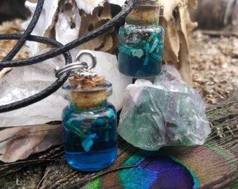 Protection From Your Enemies Witches Bottle Necklace