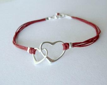 Heart Bracelet, sterling, love, anniversary bracelet, birthday, graduation, friendship bracelet, , gift for womangraduation gift