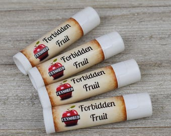 Forbidden Fruit Flavored Lip Balm - Handmade All Natural Lip Balm