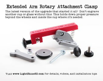 Extended Arm Rotary Attachment Clamp - Fits Boss rotary attachments (read full details)