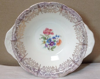 Canonsburg Spring Glory Berry Bowl Vintage Pottery USA - #1562