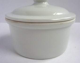 french vintage white apilco ovenproof dish