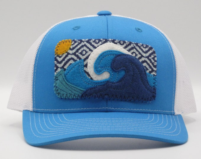 Big Wave Blue Baseball/Trucker Hat