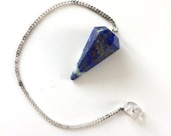 Lapis lazuli Pendulum Crystal Healing Crystal Gift Divination Dowsing