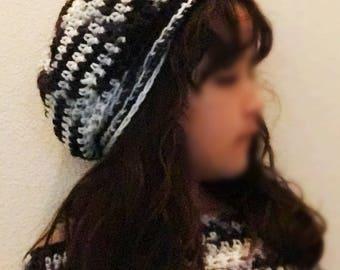 Crochet caplet and beanie