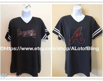 Atlanta Braves Rhinestone T-Shirt