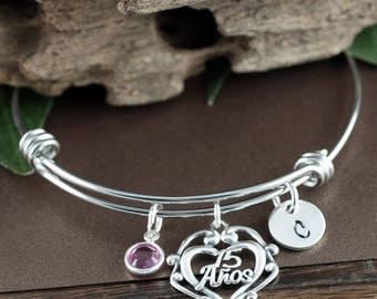 15 Anos GIft,Sweet 15 Gift, Quinceanera Gift, Sweet 15 Bracelet, Quinceanera Jewelry, Gift for Teenager, Quinceanera Bracelet, 15th Birthday