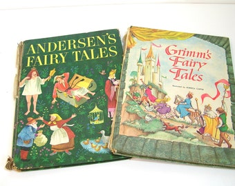 Andersen's Fairy Tales and Grimm's Fairy Tales Vintage Childrens Books