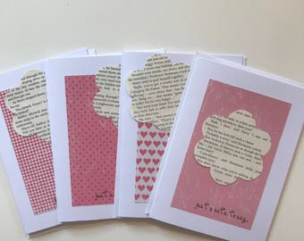 Harry Potter Pink 'Just a Note' Cards set of 4
