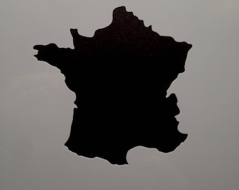 Stencil vinyl cutout map of France 8.5 x 8.6 cm scrapbooking home decor wall painting