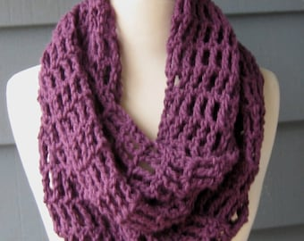PATTERN S-047 / Crochet Pattern/ Melody Infinity ... worsted/aran 350 yards