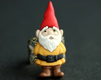 Garden Gnome Ring. Christmas Elf Ring. Red and Yellow Ring. Bronze Ring Adjustable Ring. Christmas Ring. Holiday Jewelry. Handmade Ring.