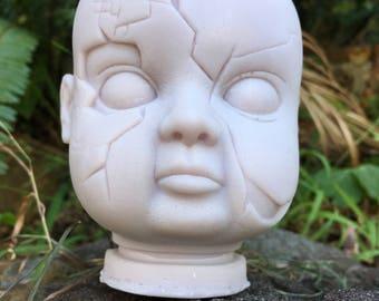 """Doll Head Candle - """"ReGaN"""""""