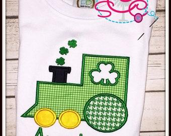 Personalized Shamrock Train Shirt/Bodysuit