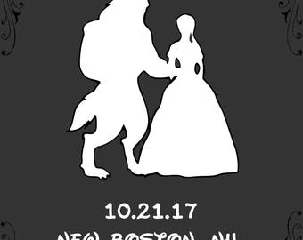 Customized Beauty And The Beast - Save The Dates