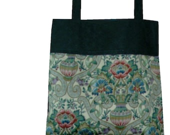 Floral Tote / lined / Book Bag