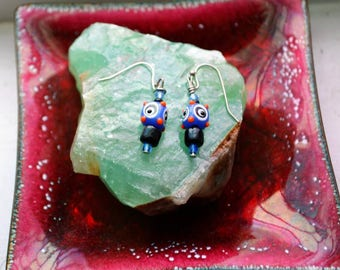 Colorful Funky Earring Pair