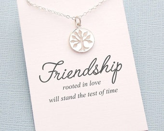 Best Friend Gift | Family Tree of Life Necklace, Friendship Gift, Friendship Necklace, Best Friend Necklace, Best Friend Birthday Gift | F09