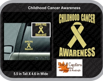 Childhood Cancer Awareness Ribbon Decal, car window sticker