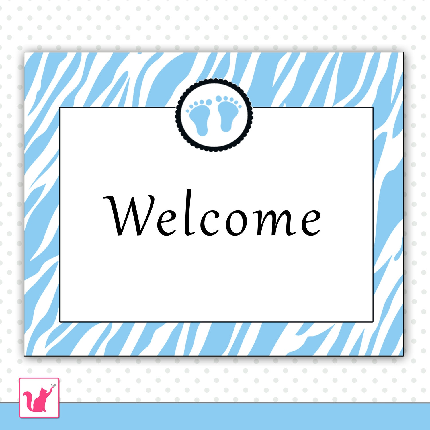 baby welcome sign