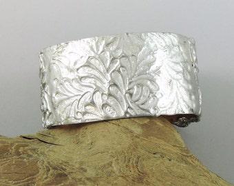 Stamped Solder Cuff Bracelet, Copper Cuff, Copper Bracelet 6 by 1 1/4 inches Cuff, Flooded Solder Cuff