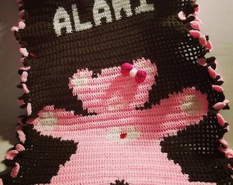 Crochet Teddy Bear Blanket