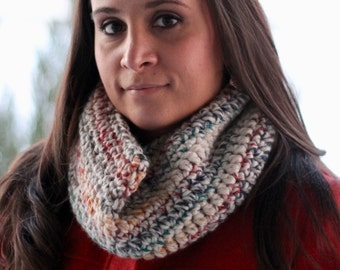 Cowl Scarf- Crochet Cowl- Infinity Scarf Cowl- Neck Warmer Scarf- Loop Scarf- Circle Scarf