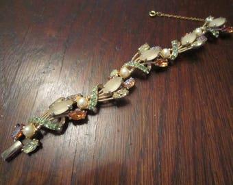 Schiaparelli Bracelet with Art Glass