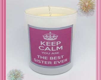 Best SISTER Ever Scented Soy Candle
