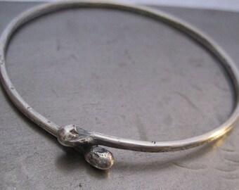 KISS Sterling Silver Bangle Bracelet