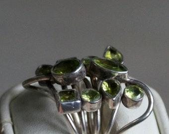 ON SALE Extraordinary Peridot Silver Ring