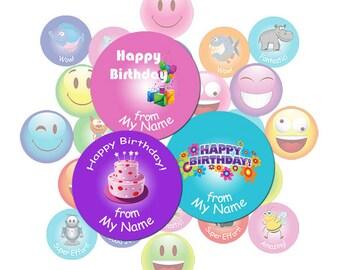 Teacher Stickers Gift Pack Birthday Theme
