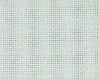 Aida 14 count Confederate Grey, grey  Aida from Zweigart 55 x 50 cms, aida for cross stitch, 14 count cross stitch fabric, cross stitch aida