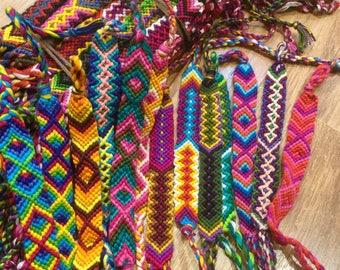 Woven Wide Friendship Bracelets Cotton Handmade Wristbands Boho Fair Trade Gift