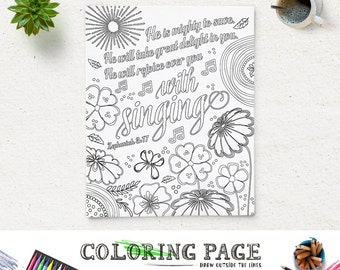 Printable Bible Verse Coloring Pages Instant Download Adult