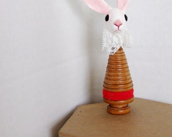 Tiny Bunny Folk Art II
